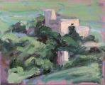 <h5>Sibylle Bross · Burg · 2007</h5><p>Öl auf Leinwand <br> 24 x 30</p>
