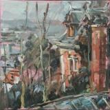 <h5>Sibylle Bross · Ziegelrot · 2007</h5><p>Öl auf Leinwand <br> 60 x 60</p>