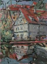 <h5>Sibylle Bross · Mühle · 2007</h5><p>Öl auf Leinwand  <br> 70 x 60 </p>