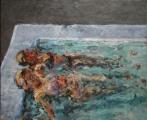 <h5>Nächtlicher Pool · 2007</h5><p>Öl auf Leinwand <br> 115 x 140</p>