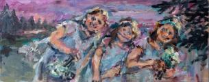 <h5>Sibylle Bross · Waldlichtung · 2012</h5><p>Öl auf Leinwand<br> 60 x 150</p>