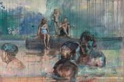 <h5>Sibylle Bross · Mole · 2013</h5><p>Acryl/Öl auf Leinwand <br> 80 x 120</p>