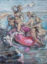 <h5>Sibylle Bross · Geburt der Venus · 2014</h5><p>Öl auf Leinwand <br> 160 x 120</p>