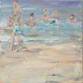 <h5>Sibylle Bross · Im Wasser · 2010</h5><p>Öl auf Leinwand<br> 40 x 40</p>