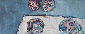 <h5>Sibylle Bross · Geteilte Freude · 2013</h5><p>Öl auf Leinwand &lt;br&gt; 60 x 150</p>