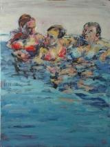 <h5>Sibylle Bross · Freundinnen · 2007</h5><p>Öl auf Leinwand &lt;br&gt; 160 x 120</p>