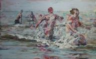 <h5>Sibylle Bross · Spiele · 2007</h5><p>Acryl/Öl auf Leinwand <br> 120 x 160                                  sold</p>