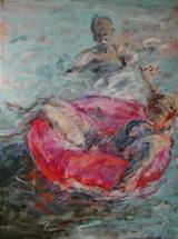 <h5>Sibylle Bross · Schwestern · 2007</h5><p>Acryl/Öl auf Leinwand &lt;br&gt; 160 x 120</p>