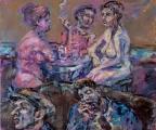 <h5>Sibylle Bross · Was wollen die denn! · 2012</h5><p>Öl auf Leinwand <br> 100 x 140      </p>