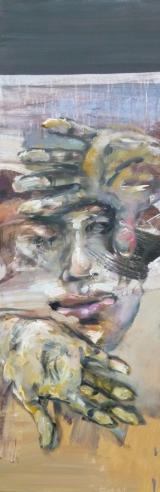 <h5>Sibylle Bross · Hände · 2012</h5><p>Acryl/Öl auf Leinwand <br> 120 x 40      </p>