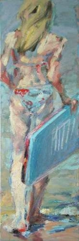 <h5>Sibylle Bross · Surfbrett II · 2006</h5><p>Öl auf Leinwand &lt;br&gt; 120 x 40                                sold</p>