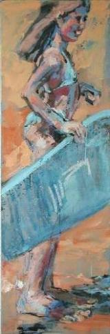 <h5>Sibylle Bross · Surfbrett I · 2006</h5><p>Öl auf Leinwand &lt;br&gt; 120 x 40                              sold</p>