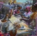 <h5>Sibylle Bross · Nachmittag im Waisenhaus · 2015</h5><p>Öl auf Leinwand <br> 40 x 40</p>