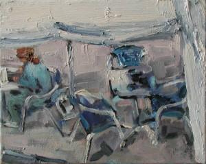 Sibylle bross Blaue Stühle